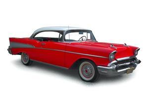 klassisk röd bil