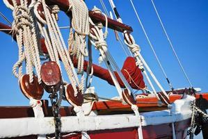 riggning av ett fartyg foto