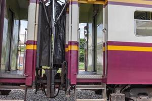 tågvagn på tågstationen foto