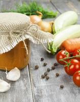 grönsaksspridning foto