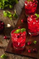 hemgjord boozy cranberry cocktail