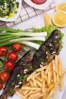 grillad fisk foto