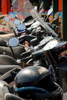 motorcykelparkering foto