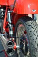 motorcykel avgaser. foto