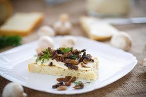 smörgås med svamp foto