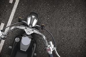 motorcykel på vägen foto