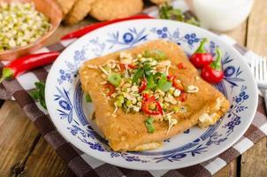 thai frukost omelett foto