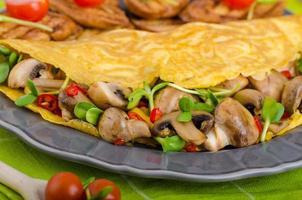 vegetarisk omelett, ät rent foto