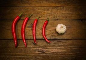vitlök och peppar foto
