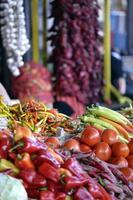hälsosam, färgglad mat foto