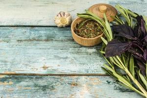 gröna och krydda foto