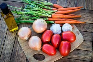 grönsaker redo för användning foto