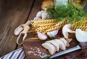 ingredienser för porcini pasta foto