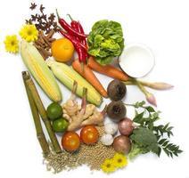 hälsosamma grönsaker och frukter