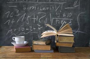 böcker, utbildning, lärande, vetenskap foto