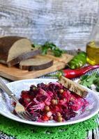 rödbetor sallad vinaigrette. foto