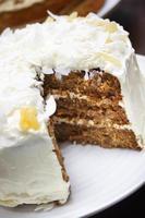 iced morot cake foto