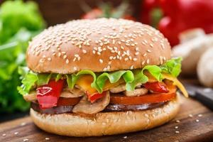 vegetarisk hamburgare foto