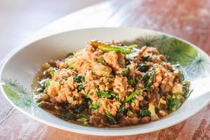 thailändsk kryddig mat foto