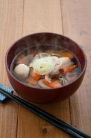 japansk mat, kenchinjiru foto