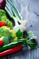 färska ekologiska grönsaker foto