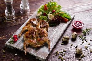 vacker och välsmakande maträtt. foto