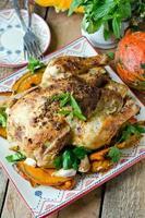 bakad kyckling med pumpa foto