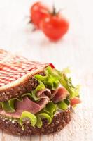 färsk läcker smörgås foto