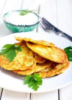 courgette fritters foto