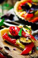 vegetabilisk paj ratatouille foto
