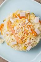 ris med zucchini foto