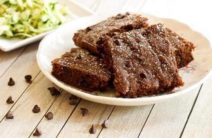 zucchini choklad brownies foto