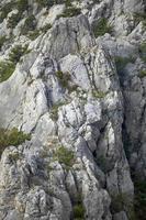 ytan av berget. foto