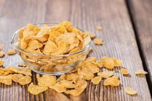 gyllene cornflakes foto