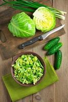 grönsakssallad och ingredienser