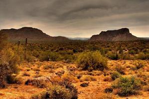 öken storm närmar sig foto