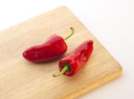 varma röda paprika eller fresno foto