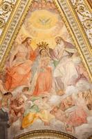 Rom - kröningen av jungfru mary fresco foto