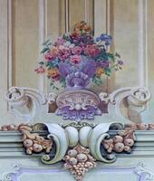 jasov - fresco av barock bukett foto