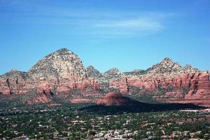 dal av sedona och berg, Arizona usa foto
