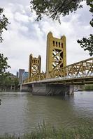 Sacramento River Bridge vertikalt foto