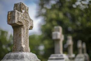gravmarkörer, eklandskyrkogård foto