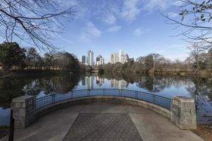 Atlanta piedmont park stadsbild foto