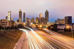 Atlanta centrum horisont foto