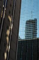 reflexioner av Atlanta skyskrapor foto