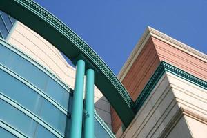 färgglad byggnad detalj foto