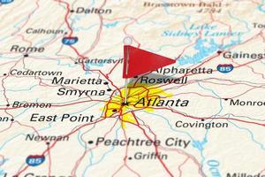 Atlanta, Ga, USA - städer på kartor