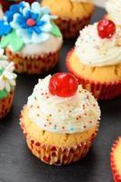 dekorerade muffins foto