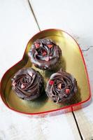 Alla hjärtans dag choklad cupcake foto