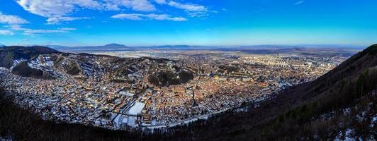 panorama över brasov foto